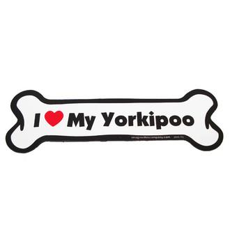 I Love My Yorkiepoo Bone Magnet