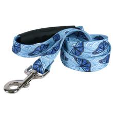 Blue Butterfly Swirl EZ-Grip Dog Leash