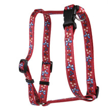 Festive Butterfly Red Roman Style H Dog Harness