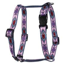 Indian Spirit Pink Roman Style H Dog Harness
