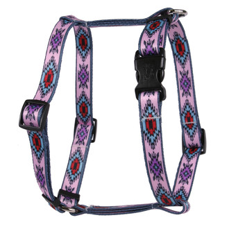 Indian Spirit Pink Roman Style H Dog Harness