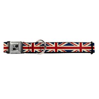 Vintage United Kingdom Flag Buckle-Down Seat Belt Buckle Dog Collar