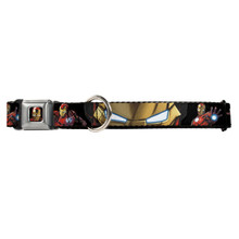 Marvel Avengers Assemble Iron Man Buckle-Down Seat Belt Buckle Dog Collar