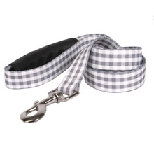 Southern Dawg Gingham Gray Premium Dog Leash