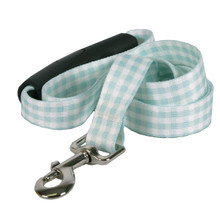 Southern Dawg Gingham Mint Premium Dog Leash