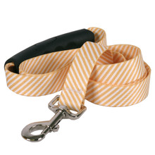 Southern Dawg Seersucker Orange Premium Dog Leash