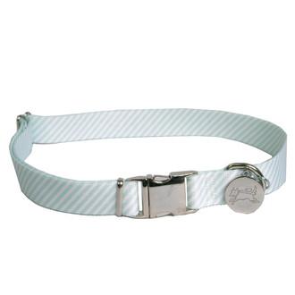 Southern Dawg Seersucker Mint Premium Dog Collar