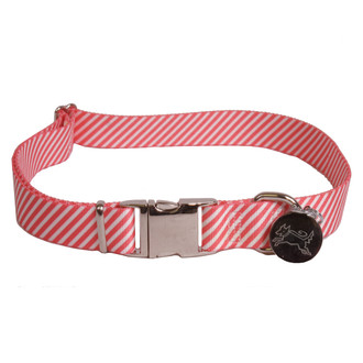 Southern Dawg Seersucker Red Premium Dog Collar