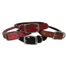 Rolled Round Leather Dog Collar