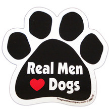 Real Men Love Dogs Paw Magnet