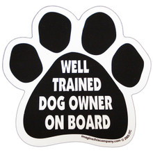 Well Trained Dog Owner On Board Paw Magnet