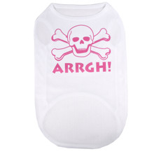 ARRGH Pink Skull Pirate Pet T-Shirt