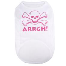 ARRGH Pink Skull Pirate Pet T-Shirt