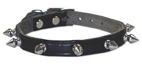 Latigo Leather Spiked Dog Collar