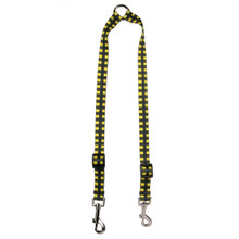 Buffalo Plaid Yellow Coupler Dog Leash