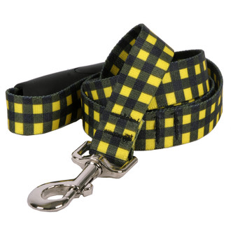 Buffalo Plaid Yellow EZ-Grip Dog Leash