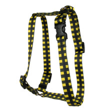 Buffalo Plaid Yellow Roman Style H Dog Harness