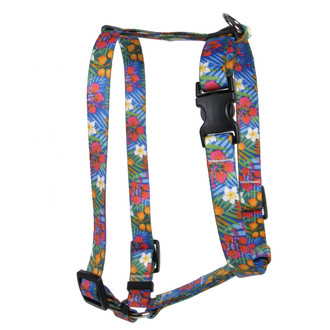 Hibiscus Paradise Roman Style H Dog Harness