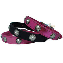Designer Cone Studded Leather Dog Collar