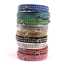 Luxury 2-Row Crystal Dog Collar