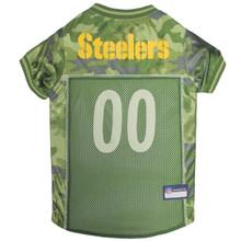 Pittsburgh Steelers NFL Football Camo Pet Jersey