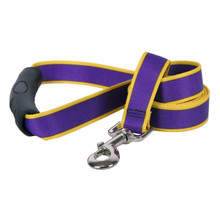 Sterling Stripes Purple and Yellow Dog Leash