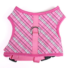 London Plaid Pink Soft Dog Harness