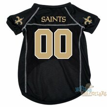 New Orleans Saints NFL Football Dog Jersey - CLEARANCE