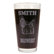 Personalized Pint Glass Beer Mug - Shih Tzu (