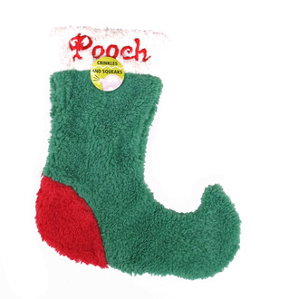 Crinkle and Squeaky Christmas Stocking Dog Toy