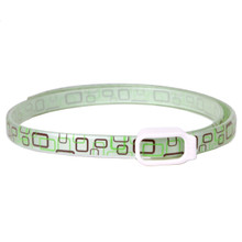 Essential Oils Dog Collar - Green Geometric