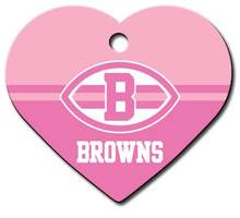 Cleveland Browns PINK Pet ID Tag - With Engraving