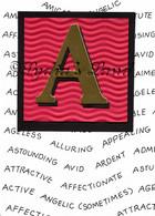 Monogram A Birthday Card
