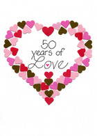 Handmade 50th year anniversary card