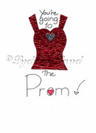 Prom greeting card