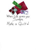 handmade quilt friendship card.