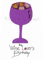 Wine-themed Birthday Card