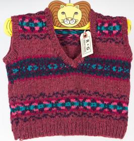 Handknit Child's Sweater Vest