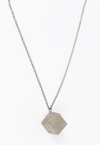 Concrete Diamond-Shaped Necklace