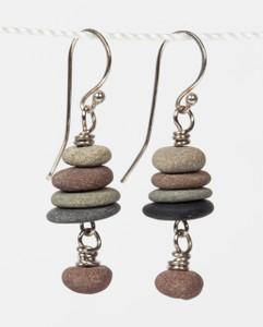Lake Stone Cairn Earrings (Small)