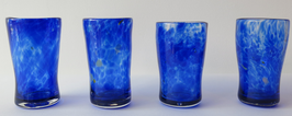 Handblown Cobalt Glasses (Set of 4)