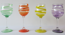 Handblown Glass Wine Goblet (Sold only in sets of two)