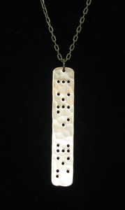 Braille Love You Necklace (silver)