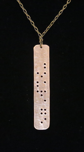 Braille Courage Necklace (brass)