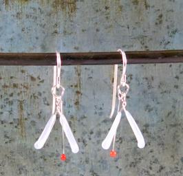 VJP Melange White/Red Earrings