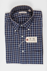 RG Blue and Silver Check Shirt