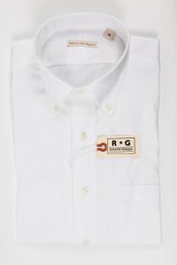 RG White Pinpoint Shirt, Button-down
