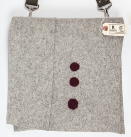 Felt Mail Bag with Maroon Dots