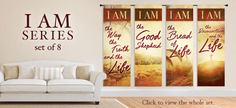 I AM banner designs