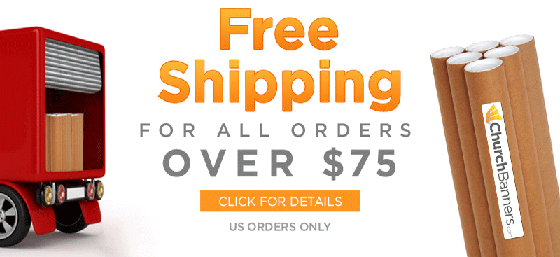 free shipping on all christmas banners